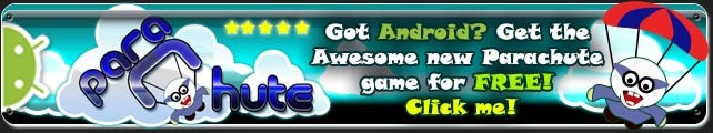 Got an Android mobile or tablet, get Parachute! The awesome new free game of fun and mayhem for all the family